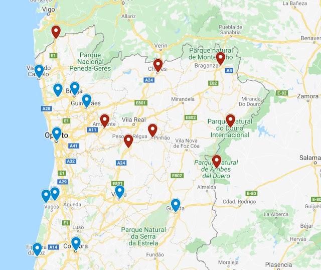 lugares con encanto que ver norte Portugal