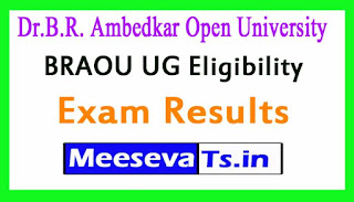 Dr.Brambedkar Open University BRAOU UG Eligibility test results 2017