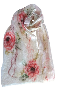 Ashdown rose scarf by Mimi Pinto