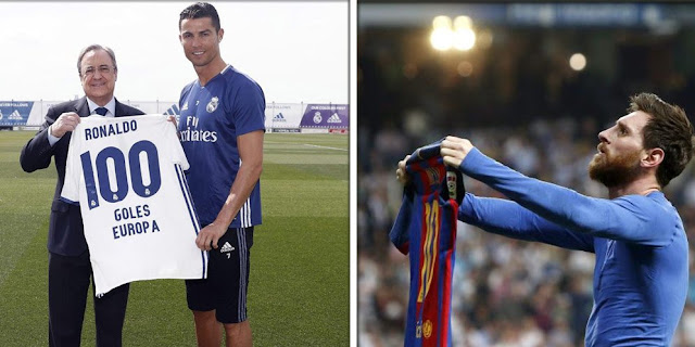 Ronaldo and Messi Teach 100 Goals in Champions League, Who's Fastest?