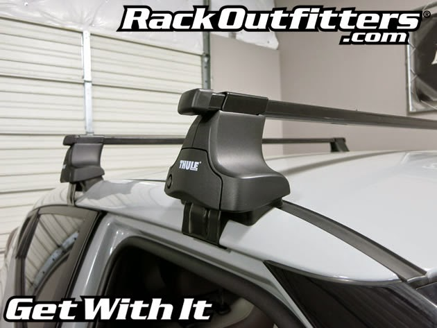 Hyundai Veloster Thule Traverse Square Bar Roof Rack 12