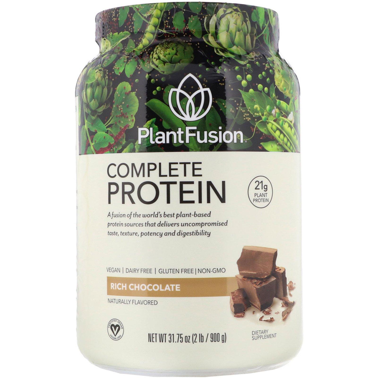 PlantFusion, Complete Protein, насыщенный шоколад, 900 г (2 фунта)