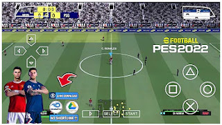 Download eFootball PES 22 PPSSPP New Menu Faces Kits Best Graphics & Update Transfer