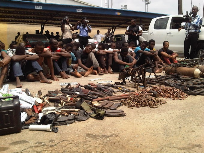 See The 38 Deadly Armed Robbers And Kidnappers Arrested By The Police