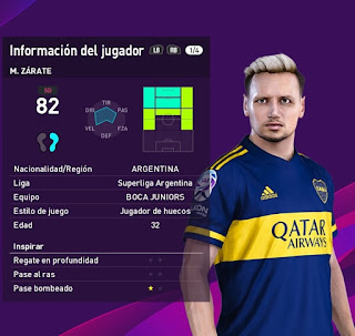 PES 2020 Faces Mauro Zarate by Valentinlgs10