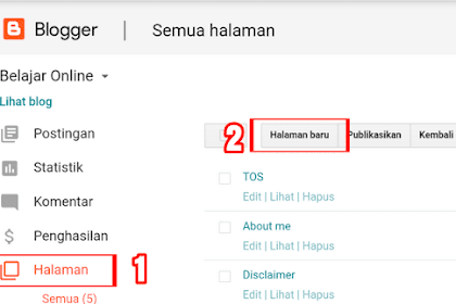 Cara Membuat Daftar Isi Blog Berdasarkan Label