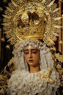 Traslado de la Virgen de la Caridad a la parroquia del Sagrario esta tarde en Sevilla