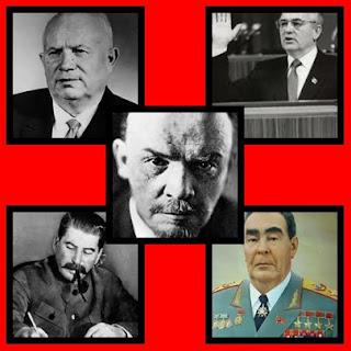 I volti dei principali leader sovietici.