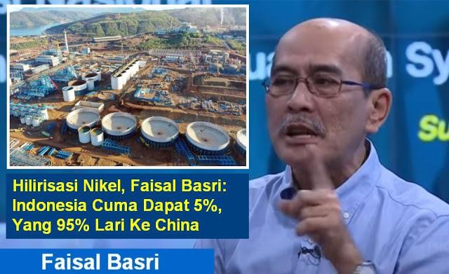 Bongkar Hilirisasi Nikel ala Luhut, Faisal Basri: Indonesia Cuma Dapat 5%, Yang 95% Lari Ke China