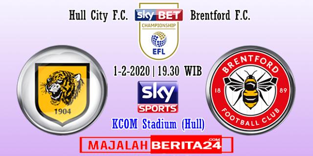 Prediksi Hull City vs Brentford — 1 Februari 2020