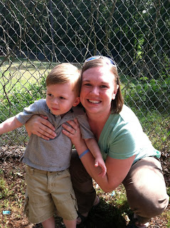 Jeanie and her son Jack on http://onequartermama.ca
