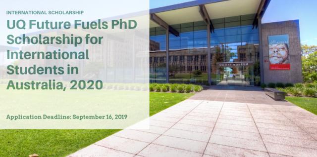 تمويل مهم تقدمه UQ Future  للطلاب الدوليين لدراسة الدكتوراه  في أستراليا  سنة 2020