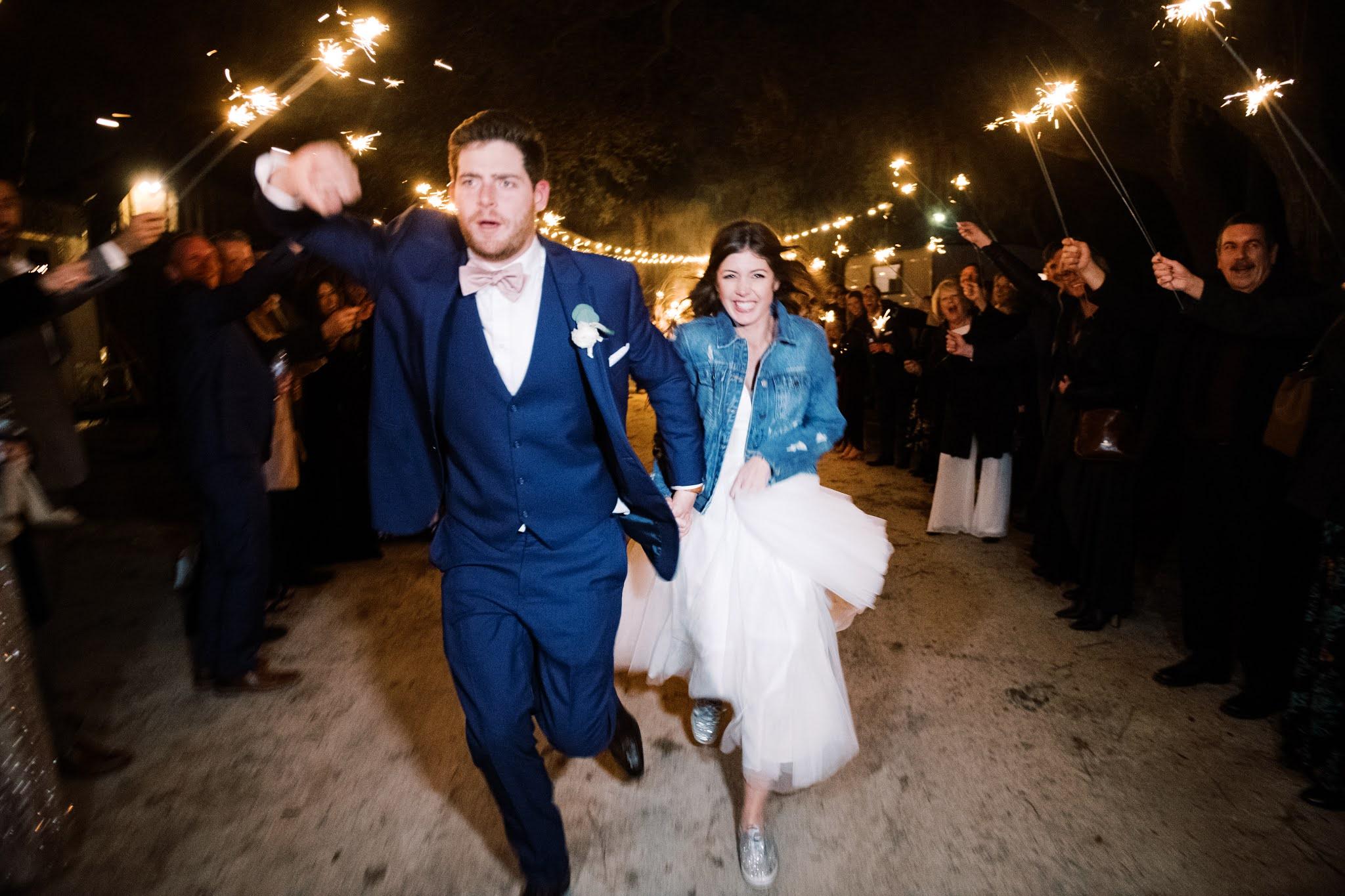Charleston Wedding Sparkler Exit - Chasing Cinderella