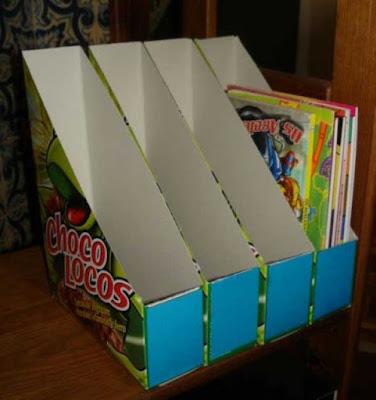 Organizadores com caixas variadas de papelão