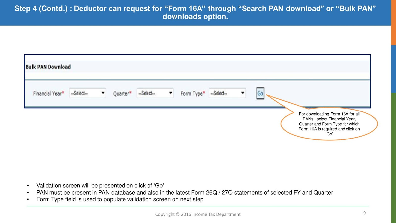 how to download form 16A