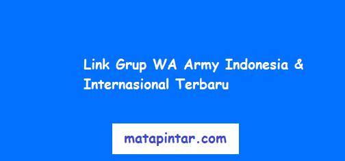 Link Grup WhatsApp Army