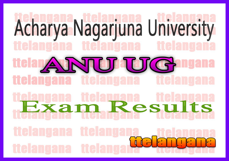 ANU Acharya Nagarjuna University UG 2nd 4th Semester Exam Results