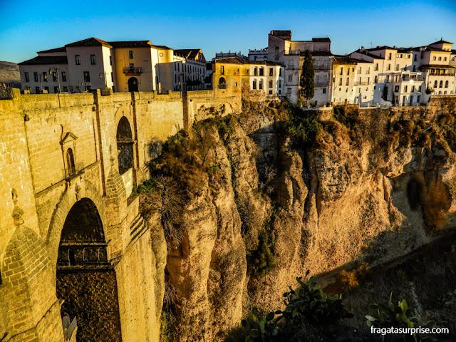 A Ponte Nova, sobre o Desfiladeiro do Tajo, em Ronda, Andaluzia