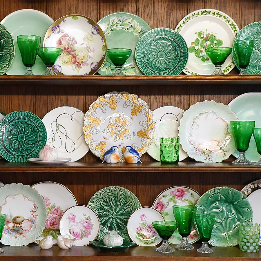 St Patricks china hutch in Welsh Dresser cabinet