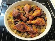 Broilerinuijat riisipedillä ja kasviksilla