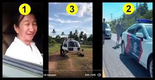 Kelakuan Mereka Jadi Sorotan: Ke Warung Pakai Mobil TNI, Joging Dikawal, Sekarang Naik Heli Polisi