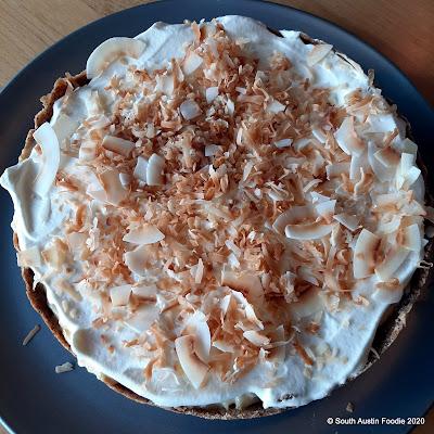 Coconut cream tarte