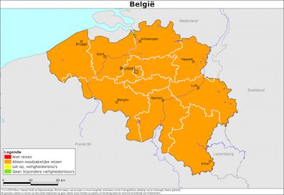 بسبب تفشي كورونا.. لا يُنصح بالسفر بين هولندا وبلجيكا