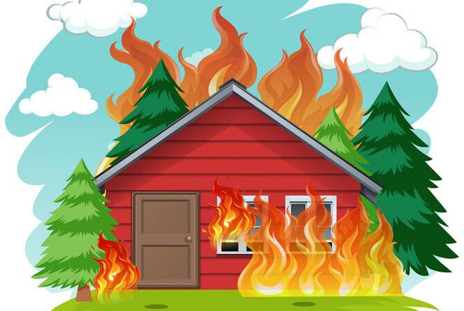 Reflexión de la casa quemada