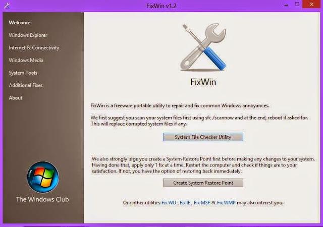 أصلح جميع مشاكل حاسوبك ومشاكل الأنترنت عبر أداة FixWin وبضغطة زر واحدة