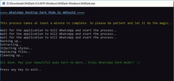كيفية إضافة الوضع المظلم في تطبيق واتساب على الويندوز