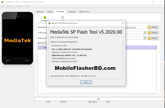 Download SP Flash Tool v5.2020 Latest Update MTK Flashing Tool Free For All Without Password