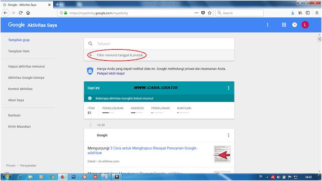 Riwayat Pencarian Google