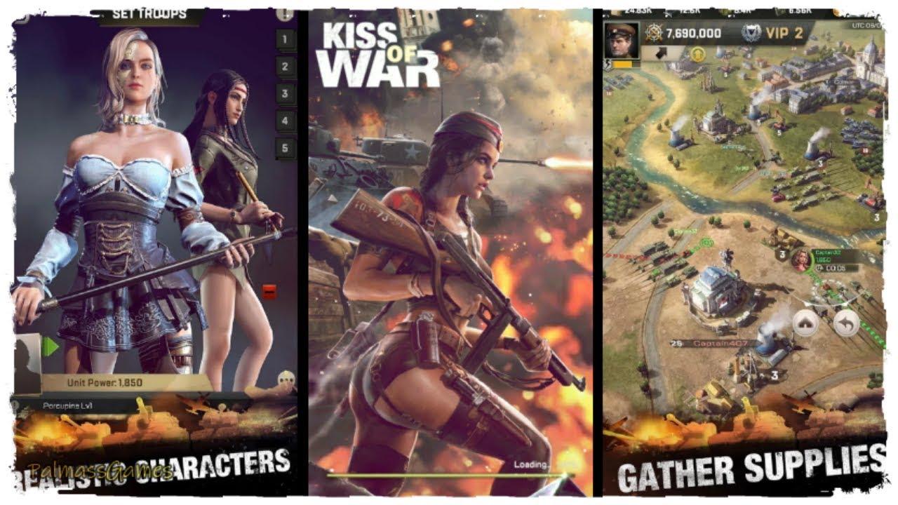 تحميل لعبة Kiss of War مهكرة اخر إصدار للاندرويد apk+obb