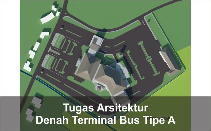 denah terminal bus tipe a