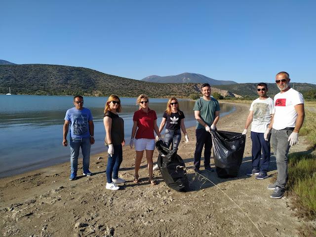 Εθελοντικός καθαρισμός της παραλίας Αγίου Δημητρίου στην Κοιλάδα από το ΣΔΕ Κρανιδίου