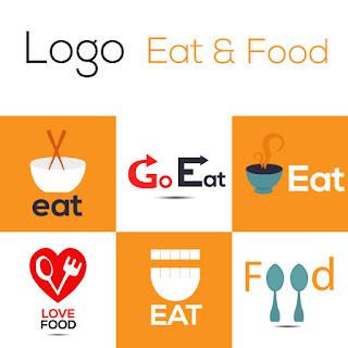 10 Logo tentang Makanan (Eat and Food) Paling sederhana