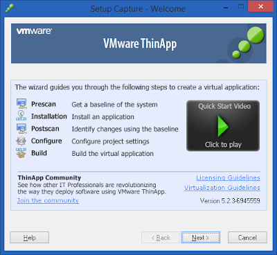 Screenshot VMware Thinapp Enterprise 5.2.3 Build 6945559 Full Version