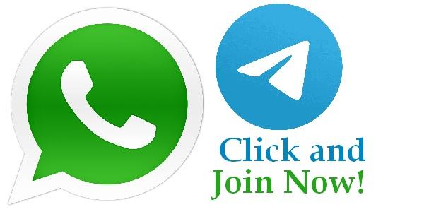 सबसे तेज अपडेट के लिए हमसे WhatsApp और Telegram से जुड़िये और रहिये हमेशा अपडेट !