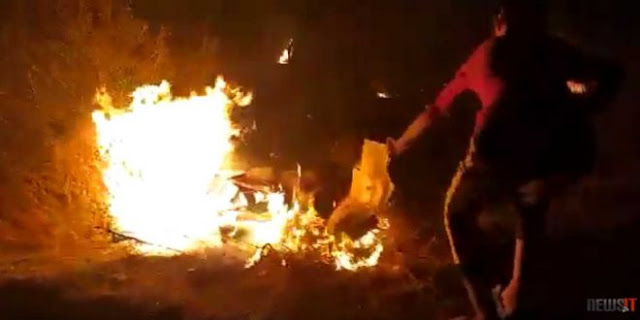 Μόρια: Έτσι έβαλαν τη φωτιά στον καταυλισμό προσφύγων – Video ντοκουμέντο