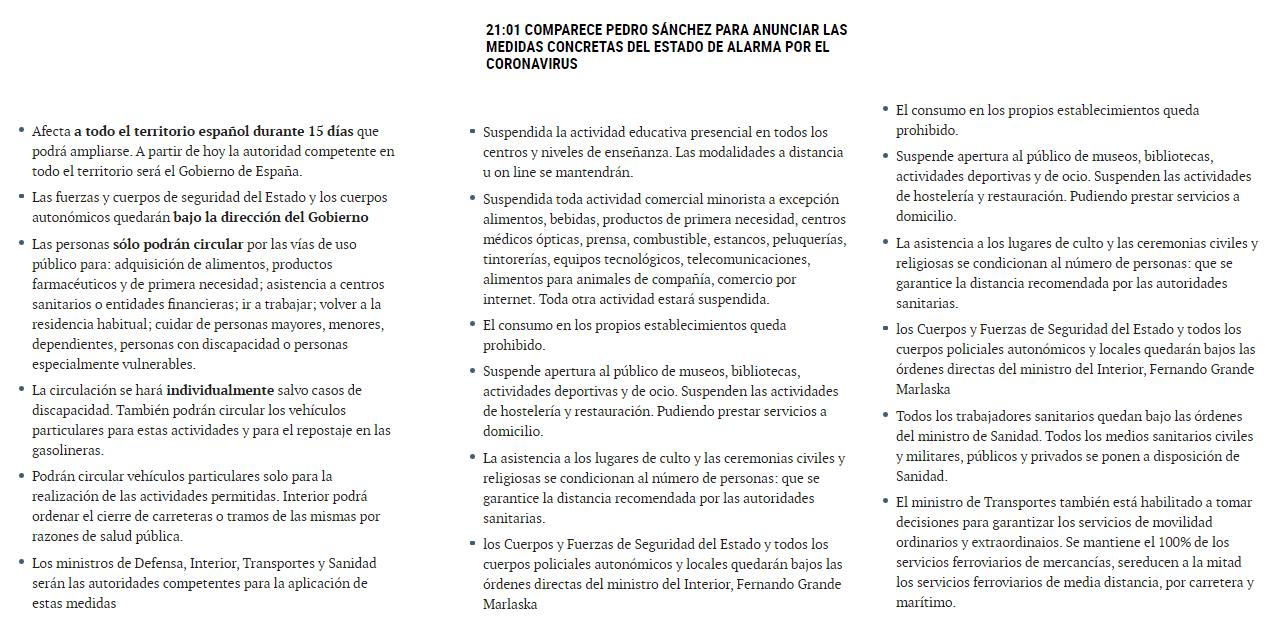 Medidas para frenar la velocidad de contagios del covid-19