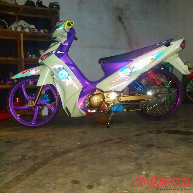 Vega ZR Modif Simple Putih Ceper