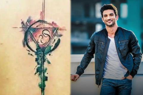 Sushant Singh Rajput back tatoo
