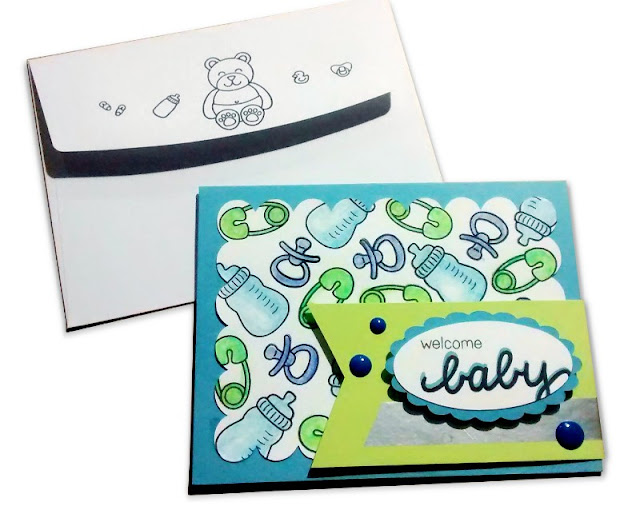 Sunny Studio Stamps: Baby Bear Customer Card Share by Chrissie Kesler