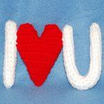 patron gratis te quiero amigurumi |  I love free pattern amigurumi