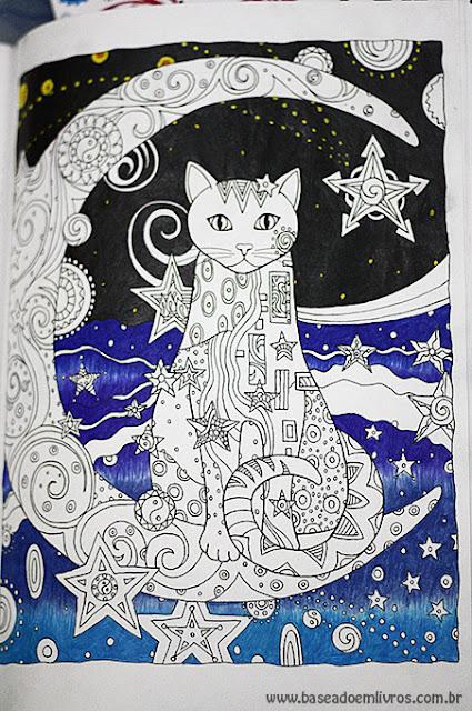 Livro de colorir gatos
