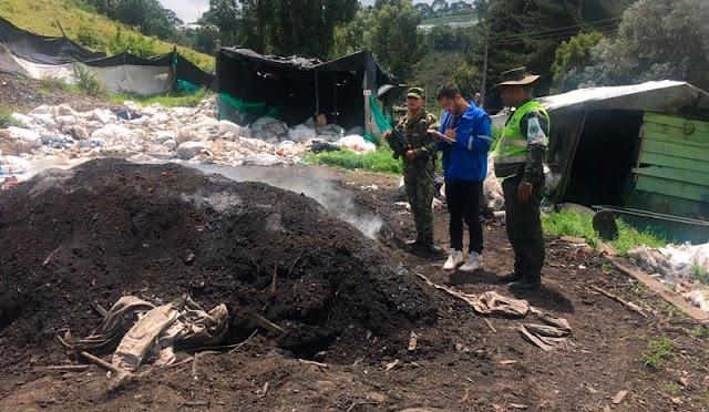 Autoridades ambientales capturaron a una persona por quemas a cielo abierto en Facatativá