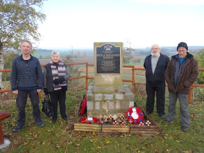 The Butte de Warlencourt: the Western Front Association Memorial, Kevin & Paul with Charles & Blanch Crossan, photo supplied by Kevin Richardson