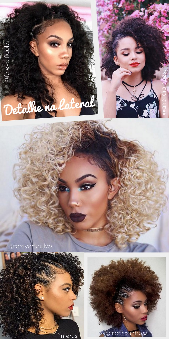 Penteados para cabelos cacheados e crespos para dia a dia e festas casamento madrinha - amazing curly hairstyles - ohlollas