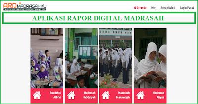 Login dan Mengisi Aplikasi Rapor Digital (ARD) Madrasah MI MTs MA Tahun Pelajaran 2018/2019