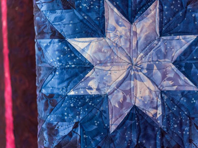 Glowing Lone Star quilt for Bluprint